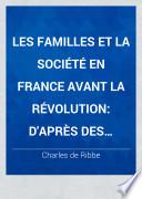 illustration Les familles et la société en France avant la révolution
