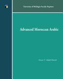 Advanced Moroccan Arabic