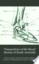 Transactions of the Royal Society of South Australia Book PDF