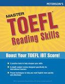 Peterson s Master TOEFL Reading Skills