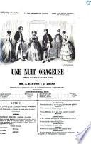 Une nuit orageuse com  die vaudeville en deux actes par A  Dartois et J  Adenis