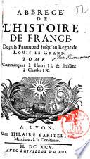 Abreg   de l histoire de France  depuis Faramond jusqu au regne de Louis le grand  Tomo 1    7   Simon de Riencourt