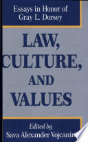 Law  Culture  and Values