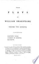 Winter s Tale  Comedy of Errors  Macbeth