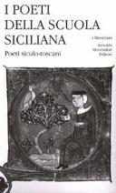 I poeti della scuola siciliana  Poeti siculo toscani