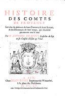 Histoire des comtes de Provence