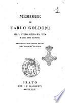 Memorie di Carlo Goldoni per l istoria della sua vita e del suo teatro  Traduzione nuovamente rivista sull originale francese  Tomo 1    3