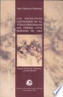 Los principios contenidos en el título preliminar del Código civil peruano de 1984
