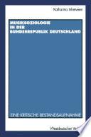 Musiksoziologie in der Bundesrepublik Deutschland