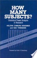 How Many Subjects