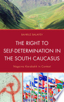 The Right to Self Determination in the South Caucasus