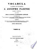 Vocabula Latina Et Italica