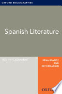 Spanish Literature: Oxford Bibliographies Online Research Guide