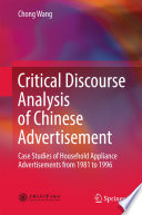 Critical Discourse Analysis of Chinese Advertisement