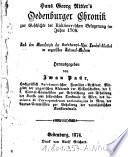 """""""Hans Georg Ritter's"""" Oedenburger Chronik zur Geschichte der Rákóczy-schen Belagerung im Jahre 1704"""