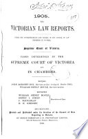 The Victorian Law Reports