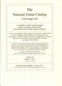 The National Union Catalog 1956 through 1967