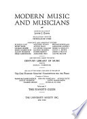 Modern Music and Musicians  Encyclopedic v  1  The pianist s guide   v  2 3  The great composers  critical and biographical sketches Book PDF
