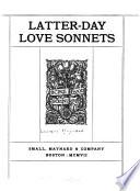 Latter day Love Sonnets