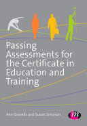 Passing Assessments for the Certificate in Education and Training