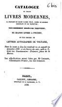 Catalogue de beaux livres modernes... reliés par Thouvenin...