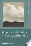 American Literature In Context After 1929 book