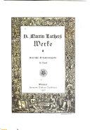 D. Martin Luthers Werke