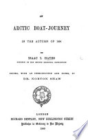 The Arctic Boat journey in the Autumn of 1854  Edited  with an Introduction and Notes  by Dr  Norton Shaw