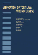 Unification of Tort Law:Wrongfulness