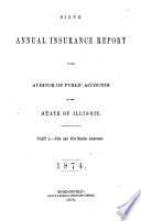 Annual Report  Business of Insurance Companies for Year Ended