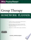 Group Therapy Homework Planner, with Download EBook