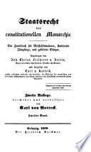 Staatsrecht der constitutionellen Monarchie