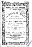 A Catalogue of Superior Second hand Books  Ancient and Modern  Comprising Works in Most Branches of Literature  Offered     by Henry Sotheran   Co Book PDF