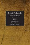 Recent Philosophy, 2 Volumes
