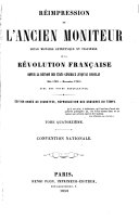 Book Réimpression de l'ancien Moniteur: Convention nationale, 1858-63