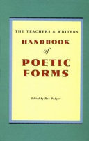 The teachers   writers handbook of poetic forms