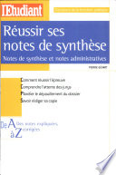 R  ussir ses notes de synth  se