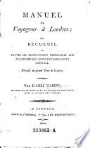 Manuel Du Voyageur à Londres