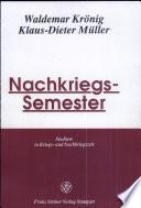 Nachkriegs-Semester