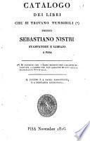 Catalogo dei libri che si trovano vendibili presso Sebastiano Nistri