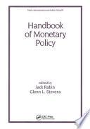 Handbook of Monetary Policy
