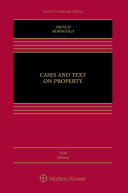Cases and Text on Property
