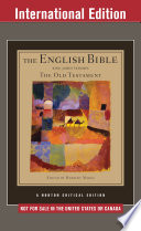 THE ENGLISH BIBLE KING JAMES VERSION  Volume One The Old Testament