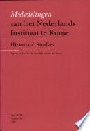 Mededelingen van het Nederlands Instituut te Rome - Papers of the Netherlands Institute in Rome