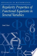 Regularity Properties of Functional Equations in Several Variables