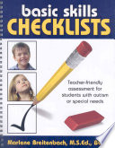 Basic Skills Checklists Teacher-friendly Assessment for Students with Autism Or Special Needs