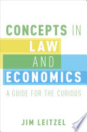 Concepts In Law And Economics book