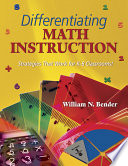 Differentiating Math Instruction