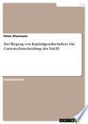 Der Wegzug von Kapitalgesellschaften: Die Cartesio-Entscheidung des EuGH