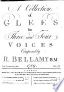 A Collection of Glees for Three an Four Voices